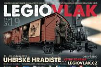 Plakát na akci Legiovlak v Uherském Hradišti.