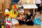 RÁDOVÁNKY. Dětský karneval na Modré se vneděli uskutečnil vrežii tamní obce a skautů.