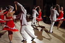 Předtančení a ukázky společenských tanců předvedla taneční škola A+A Mědílkovi.