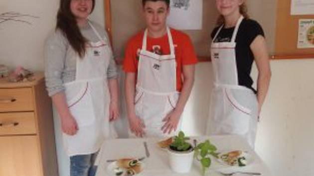 Kuchařský tým ze Základní školy Polešovice.