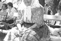 Věřící ze Slovenska  Matilda Miklovičová se na slavnost pečlivě přichystala.
