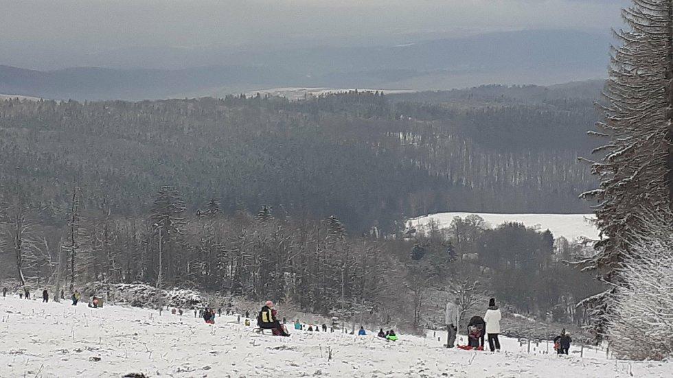 Skiareál Mikulčin vrch, sobota 9. ledna 2021.