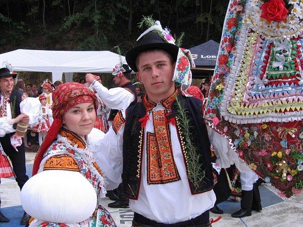 Soutěžní pár číslo 36 –  Veronika Pleváková a Radim Plevák, Ořechov, stárci na hodech 27.–28.9.