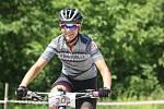 Cyklistka Lucie Skřivánková z Napajedel zvítězila v závodě horských kol, který se v neděli jel v Uherském Hradišti.