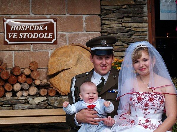 Soutěžní svatební pár číslo 66 - Markéta a Marek Vymazalovi, Újezdec-Přerov.