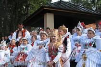 Stovky věřících se sešly o poslední srpnové neděli na poutním místě Svatém Antonínku, kde se konala děkovná pouť dožínková.