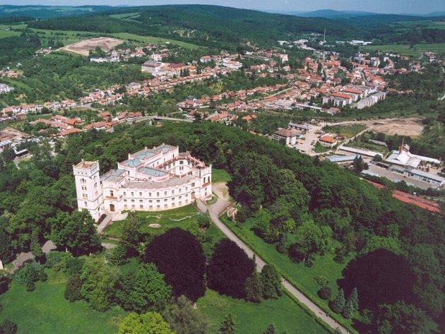 Bojkovice-letecký pohled.