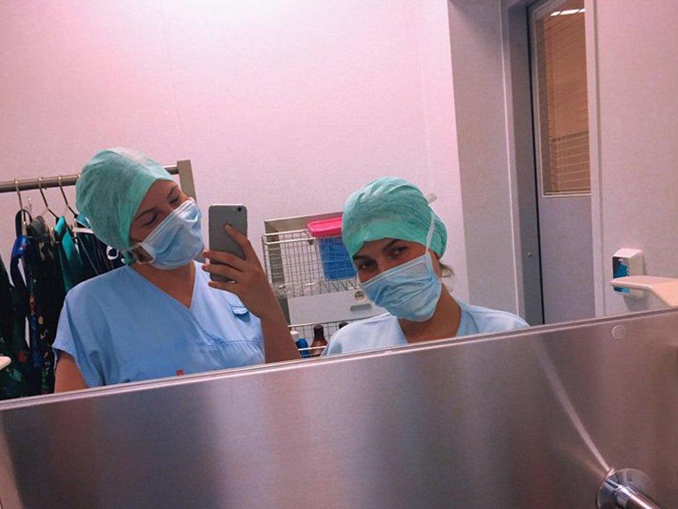 Mladá házenkářka Kunovic Barbora Grabcová studuje na Střední zdravotnické školy v Uherském Hradišti. Foto: archiv B. Grabcové