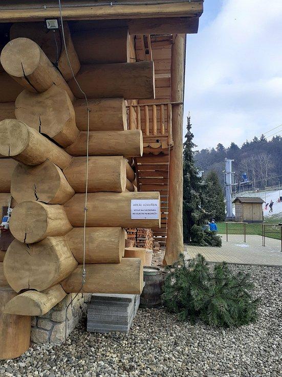 Skiareál Osvětimany, sobota 9. ledna 2021.