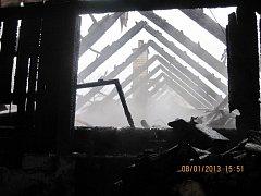 Požár rodinného domu v Korytné.