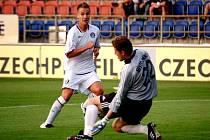 Nejlepší střelec Slovácka Aleš Chmelíček na jaře zatím na brankáře soupeře nevyzrál. Povede se mu to dnes v utkání proti Krči?