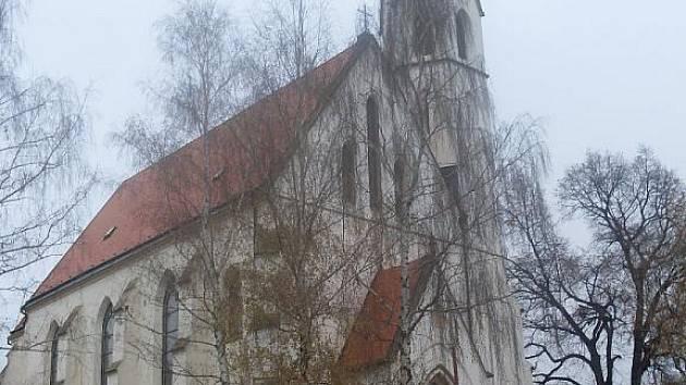 Kostel svatých Filipa a Jakuba v Dolním Němčí.