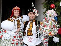 Soutěžní pár číslo 26 – Jarmila a Lukáš Hrňovi, stárci na hodech v Huštěnovicích 14. – 15. listopadu.