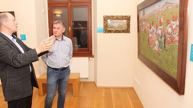 Stejně jako jeho předchůdci na postu hejtmana Zlínského kraje přijel do Uherského Hradiště obdivovat Jožu Uprku i Jiří Čunek.