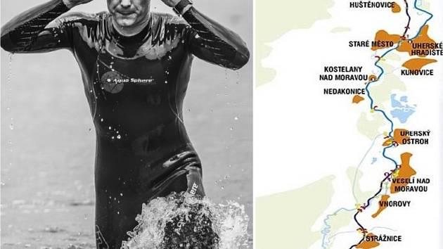 Pouhých devět dnů po svých čtyřicátinách se dálkový plavec Marek Jedlička z Hodonína pokusí zdolat Baťův kanál, který letos slaví 80. let od svého dobudování. Celkem 43 kilometrů dlouhou trasu by měl zvládnout za 13-14 hodin.