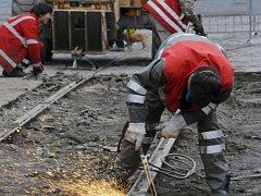 Rekonstrukce tramvajové trati. Ilustrační foto.