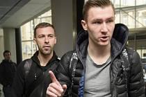 Zprava Jaromír Zmrhal a Josef Hušbauer přicházejí na sraz české fotbalové reprezentace před přípravným zápasem s Litvou.