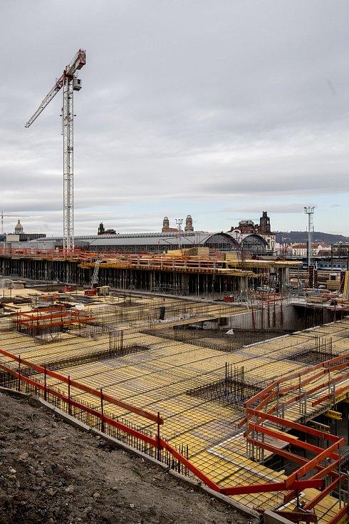 Poklepání na základní kámen projektu Churchill square u Hlavního nádraží proběhlo 12. února v Praze.