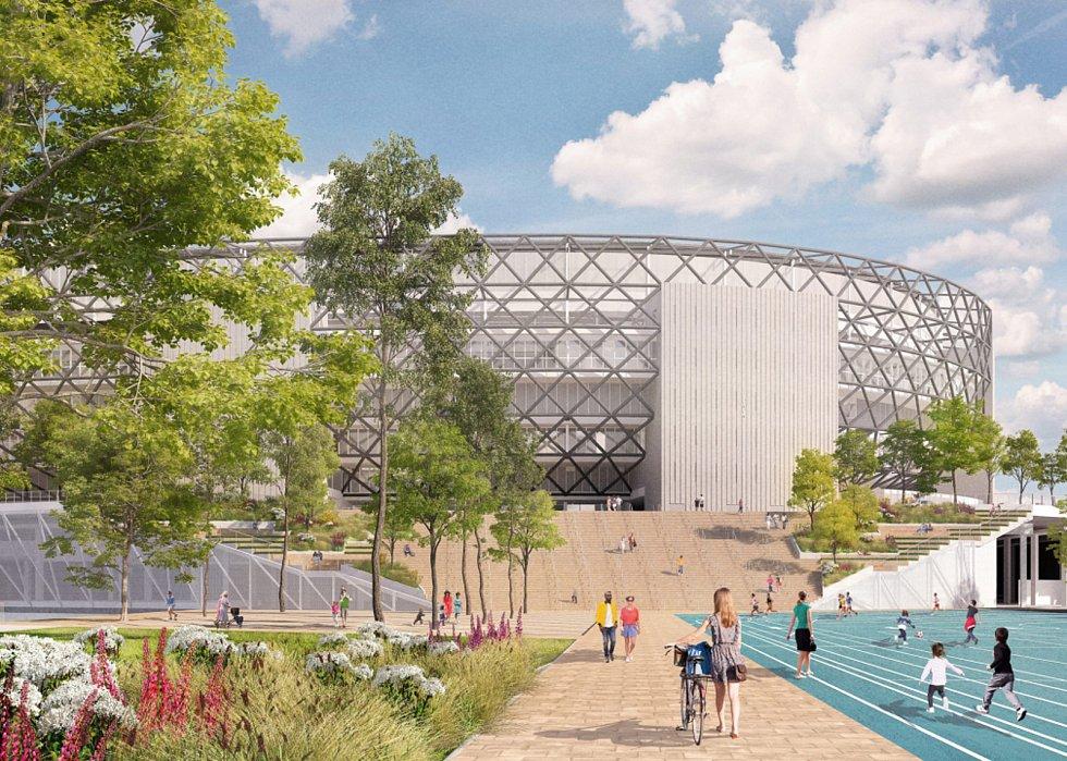 Cie s krajinářskou kanceláří LOLA doplněné o mladý brněnský ateliér m2au se prezentovalo plánem pro revitalizaci amsterdamské přístavní čtvrti NDSM nebo návrhem pro čtvrť Feyenoord City v Amsterdamu se stadionem (na snímku)..