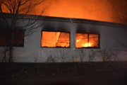 Požár v obci Zvole.
