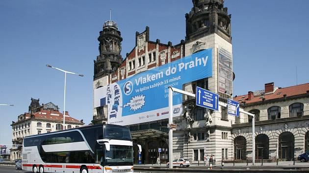 Fantova budova na pražském hlavním nádraží.
