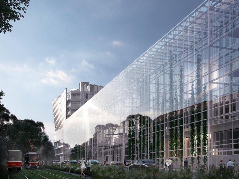 Vizualizace budovy Českého institutu informatiky, robotiky a kybernetiky ČVUT v Praze.