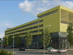 Vizualizace nové budovy Zdravotnické záchranné služby hlavního města Prahy.