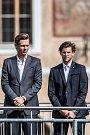 Slavnostní zahájení prvního ročníku tenisového Laver Cupu, které se konalo 20. září na Staroměstském náměstí v Praze. Tomáš Berdych, Dominic Thiem