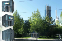 Vizualizace stanice metra Jiřího z Poděbrad po modernizaci.