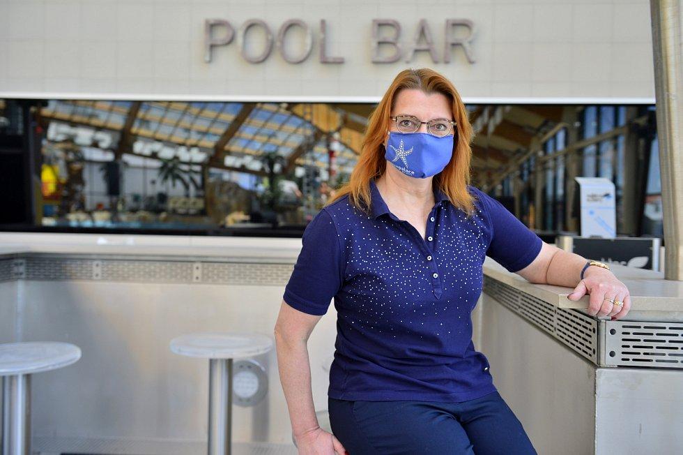 Dobu nuceného uzavření kvůli epidemii koronaviru využil Aquapalace Praha k údržbě a obnově technologií. Ředitelka Vladana Horáková.