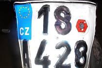 Pozměněná registrační značka