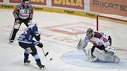 Hokejisté Plzně vyhráli na ledě Sparty 3:2.