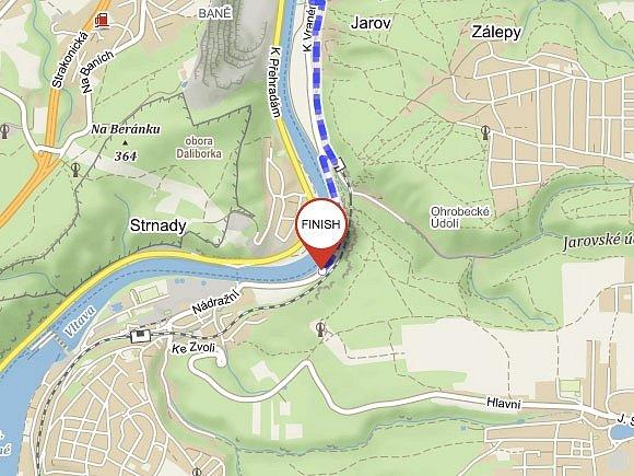 Jižní pól Prahy leží cca 200 m od severovýchodního okraje obce Vrané nad Vltavou.