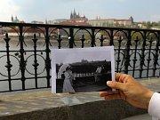 S kapitánem Štěpánem Rusňákem po stopách filmových míst na Vltavě  - Alšovo nábřeží - film Jára Cimrman ležící, spící.