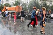 Tropické počasí v Praze.