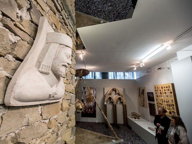 Z výstavy Civitas Carolina aneb stavitelství doby Karla IV. v Národním technickém muzeu v Praze.
