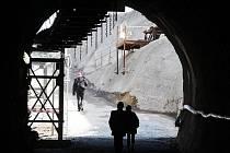 """Křest nového stroje """"Tondy"""", kterým bude ražena nová trasa pražského metra."""