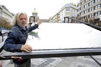 Jiří David vytvořil pro Národní muzeum moderní velrybu.