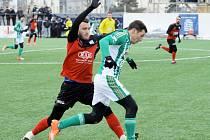 Zápas fotbalové Tipsport ligy mezi Táborskem a Bohemians 1905 (2:3) na Vyšehradě.