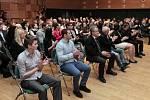 Ze slavnostního vyhlášení ankety o nejlepšího ragbistu roku 2013 v sále Kulturního centra Novodvorská v Praze.