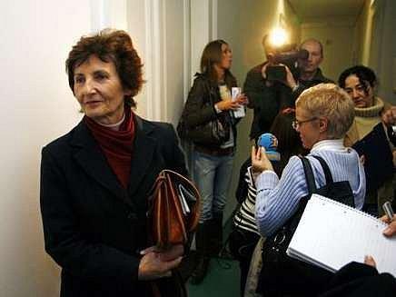 Jiřina Nováková z Židovské liberální unie mohla být s výsledkem soudu spokojená.