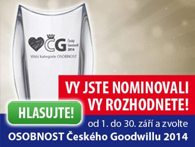 Hlasování o osobnosti Českého Goodwillu 2014.