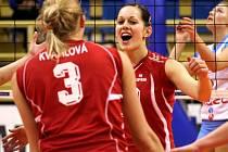 Hodně emocí přineslo vystoupení hráček Olympu v Prostějově.