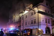 Požár v restauraci na Praze 1.