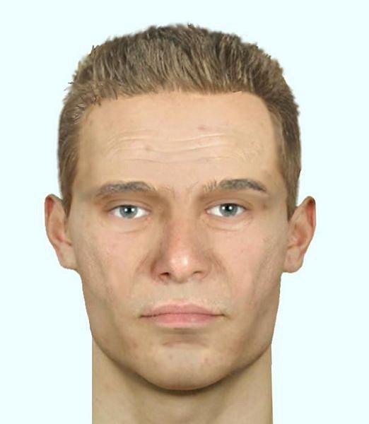 Identikit muže podezřelého ze znísilnění.