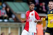 Joao Felipe rozhodl utkání mezi dorosty Slavie a Dortmundu v Praze.