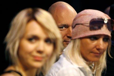 Zleva Lucie Vondráčková, Daniel Landa a režisérka Mirjam Landa na tiskové konferenci k novému muzikálu Touha, který bude mít premiéru 15. září v Divadle Kalich.