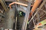 Unikátní propojení kanalizačních stok spadištěm se spirálovým skluzem v Libni.