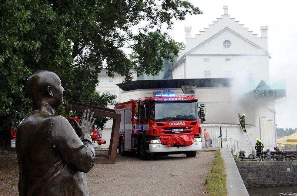 Technickou místnost Musea Kampa zasáhl ve středu 15. července 2020 požár.