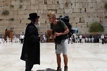 Cestovatel Ladislav Zibura v Jeruzalémě.